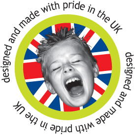 Designed and made with pride in the UK