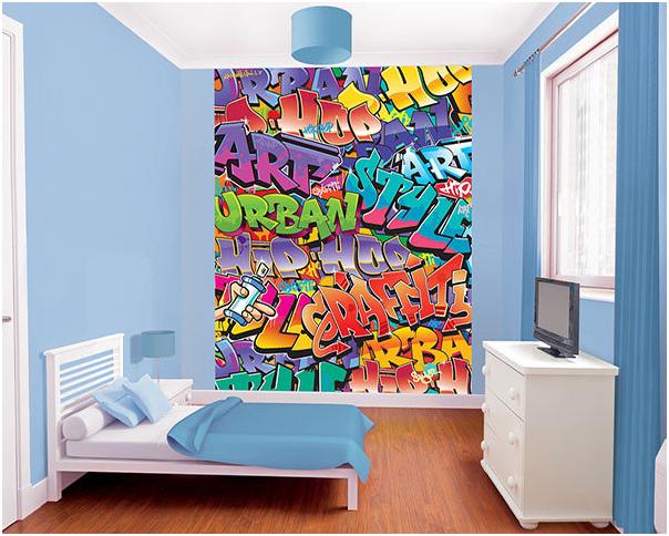 Tiener Kamer Behang.Graffiti Behang Xl
