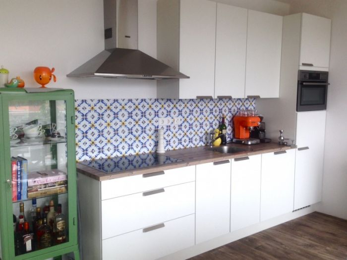 Pvc Behang Keuken : Vintage tegels behang kitchen walls