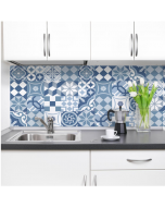 Keukenachterwand sticker Crearreda Portugese Tegels XXL blauw 180 x 45 cm