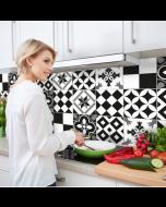 Keukenachterwand sticker Portugese Tegels XXL zwart 180 x 45 cm