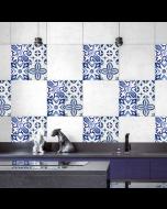 Tegel wandsticker van Crearreda Delftsblauw 20 x 20 cm 3 stuks