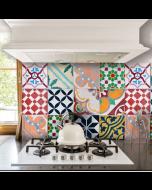 Keukenwandsticker Portugese Tegels van Crearreda