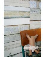 Sloophout behang wit van Studio Ditte