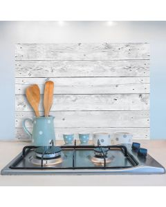 Keukenstickers Crearreda houten wand