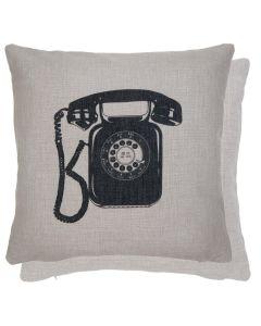Kussenhoes met retro telefoon