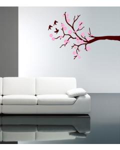 Muursticker zelfklevend velours Cherry Blossom