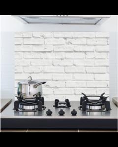 Keukenwandsticker Witte muur van Crearreda