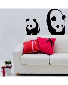 Muursticker zelfklevend velours Panda