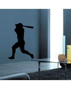 Muursticker zelfklevend velours Baseball
