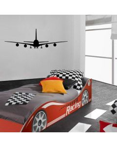 Muursticker zelfklevend velours Airplane