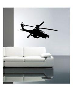 Muursticker helicopter zelfklevend velours