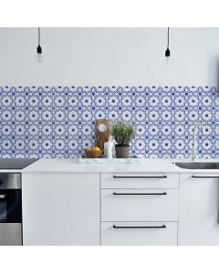 Keukenbehang Lissabon wit blauwe tegeltjes