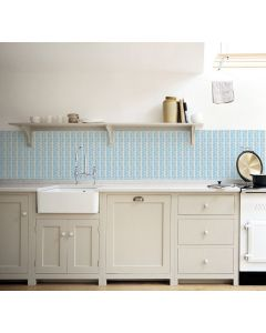 Kitchenwalls behang keuken Blue Leaves 1438