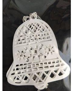 Kerstklok ornament papier lasergesneden