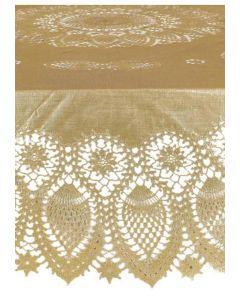 Rond tafelkleed in goud of zilver