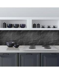 Keuken Achterwand Antraciet Zwarte Stenen Sticker - 180 x 45 cm