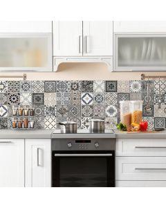 Keuken Achterwand Azulejos Vintage Sticker - 180 x 45 cm