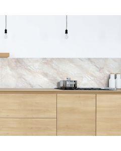 Keuken Achterwand Marmer Beige Sticker - 180 x 45 cm