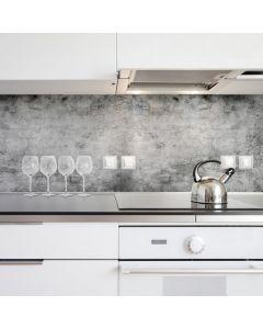 Keuken Achterwand Grunge - Betonnen Cement Sticker - 180 x 45 cm