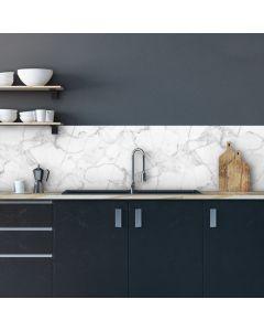 Keuken Achterwand Marmer Wit Sticker - 180 x 45 cm
