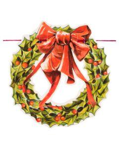 Kerst guirlande met kerstkransen