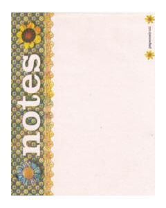 Notitieblaadjes Floral Notes van Papemelroti