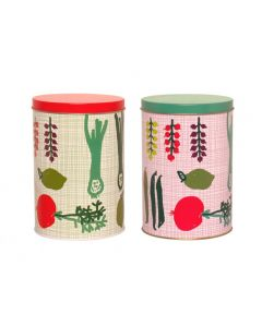 Set voorraadblikken Porre retro print Kitsch Kitchen