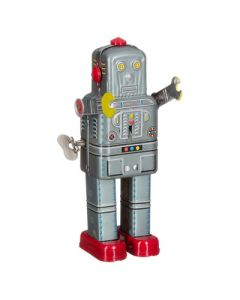 Retro speelgoed blikken robot Walking Spaceman