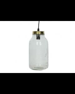Hanglamp glazen pot