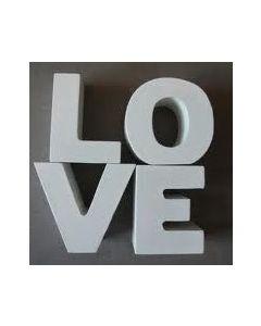 Letters 'LOVE' van Serholt