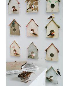 Vogelhuisjes behang van Studio Dite