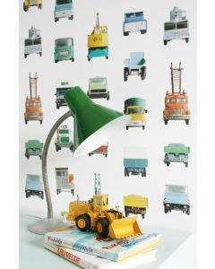 Speelgoed werkauto behang van Studio Ditte