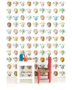Wilde dieren behang lief Studio Ditte