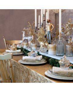 Tafelkleed kunststof in goud of zilver