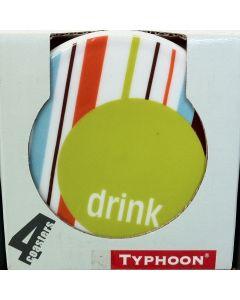 Set van 4 onderzetters (streep) van Typhoon