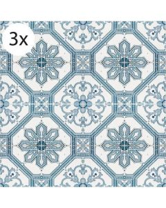 Vloertegel stickers Griekse Tegels (3 stuks 40 x 40 cm)