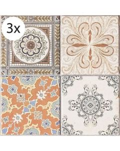 Vloertegel stickers Perzische Tegels (3 stuks 40 x 40 cm)