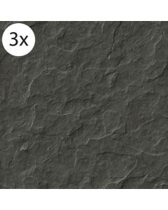 Vloertegel stickers Stenen Zwart (3 stuks 40 x 40 cm)