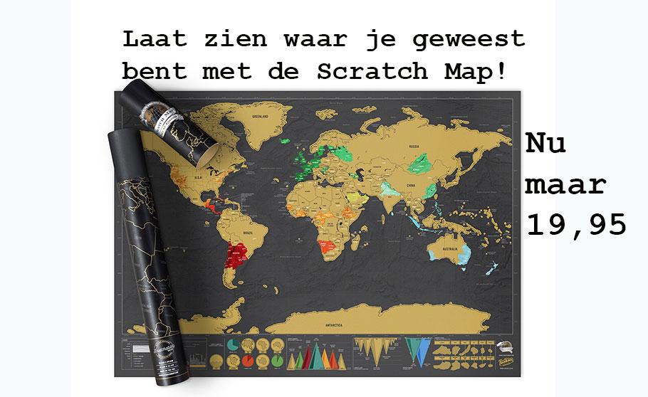 Laat zien waar je geweest bent met de Scratch Map
